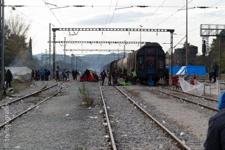 Der Bahnhof von Idomeni