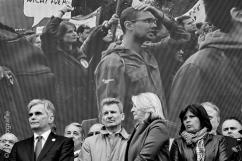 Die Wiener SPÖ Spitze nach dem Pfeiffkonzert zu BK Faymanns Rede