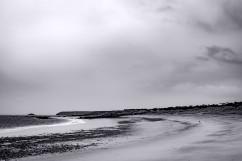 Strand, Mann und Hund